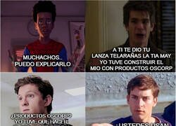 Enlace a Estos Spiderman modernos...