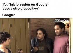 Enlace a Google está confuso