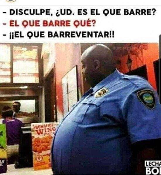 barrer,gordo,guardia,reventar,seguridad