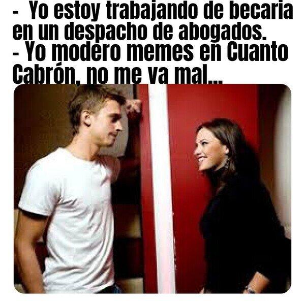 Meme_otros - Cuando te tiras el moco delante de la chica que te gusta...