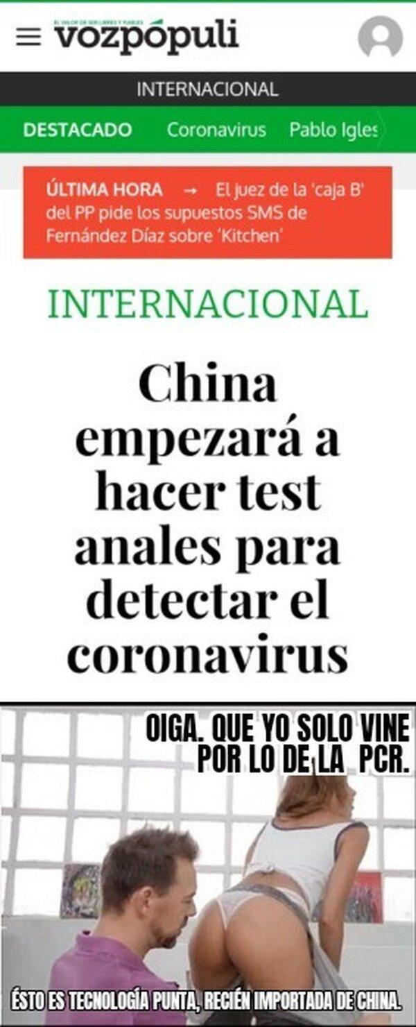 anal,China,coronavirus,culo,noticia,test
