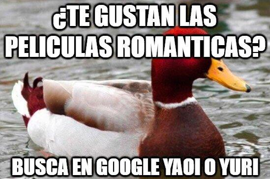 Pato_mal_consejero - ¿Te gustan las películas románticas?