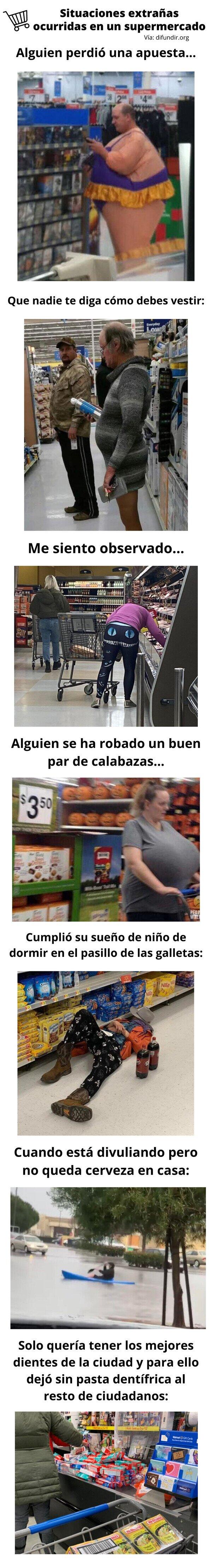 Meme_otros - Situaciones extrañas ocurridas en un supermercado
