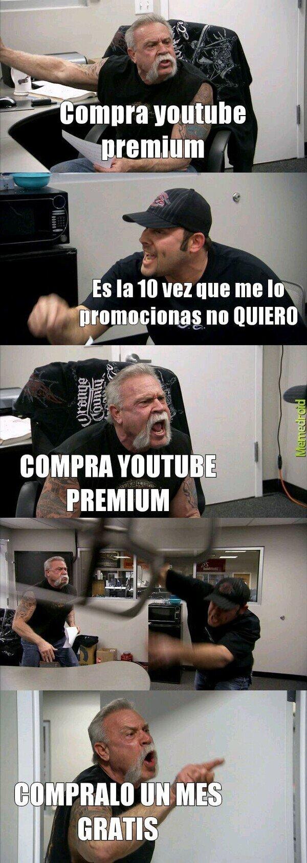 discusión,insistir,premium,youtube