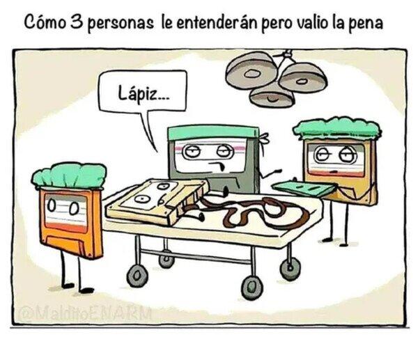 Meme_otros - Así se arreglaba una cinta de cassette