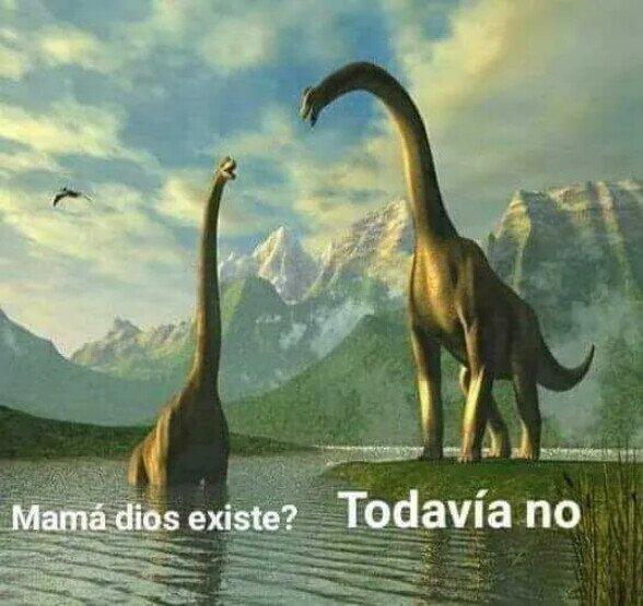Meme_otros - Mientras tanto, hace millones y millones de años...
