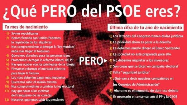 Otros - ¿Qué PERO del PSOE eres?