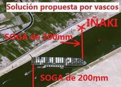 Enlace a La solución vasca para desatrancar el Canal de Suez