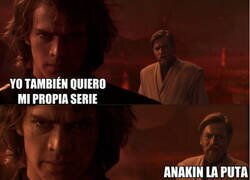 Enlace a Anakin se pone celoso de la serie de Obi Wan Kenobi