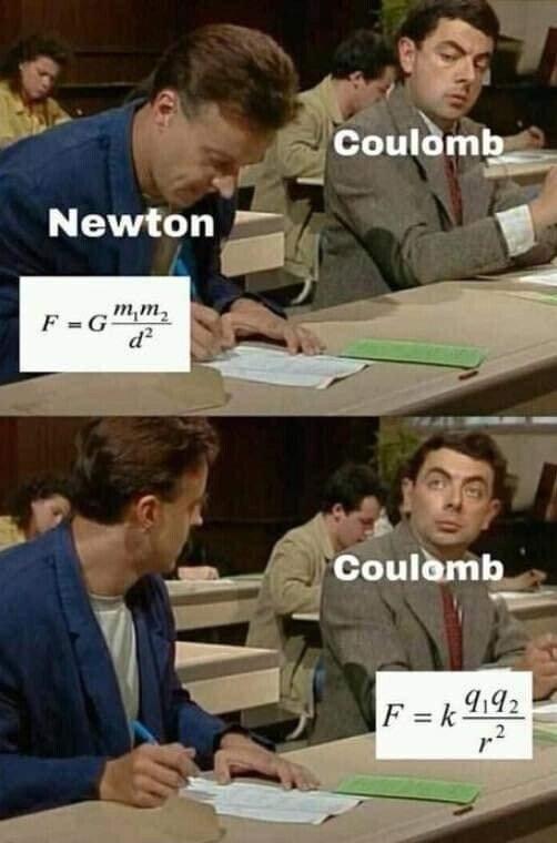 copia,coulomb,fórmula,newton