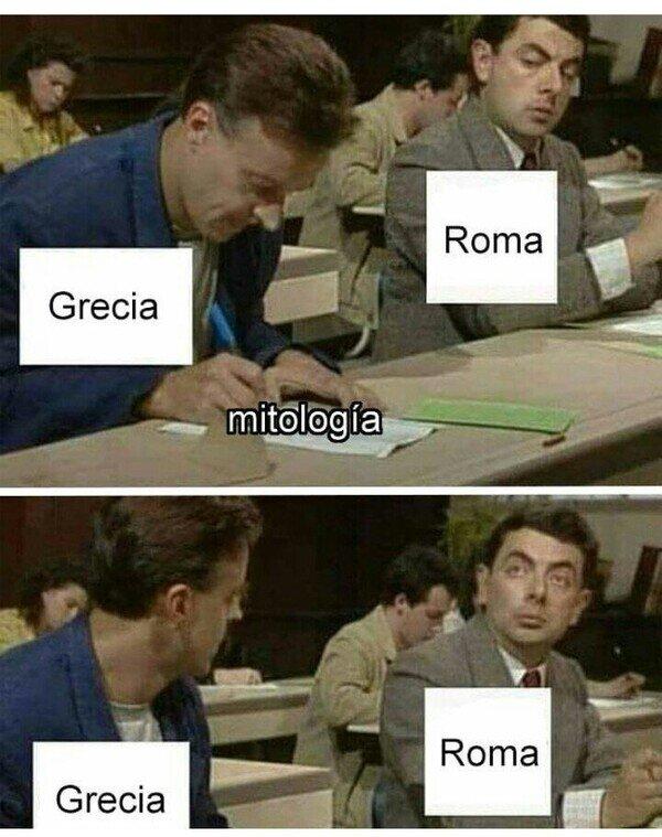 copiar,griega,mitología,parecidos,romana