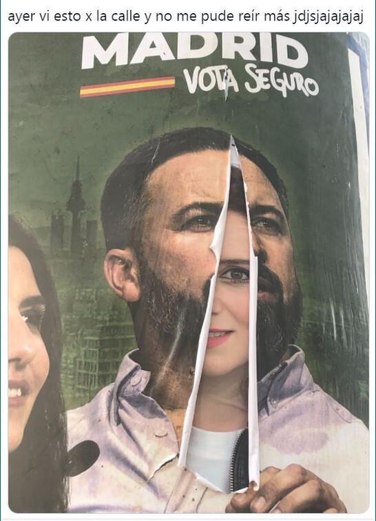 Abascal,Ayuso,cartel,España,política,PP,V0X