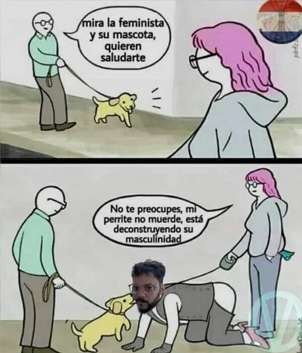 Otros - Feministas paseando al perro