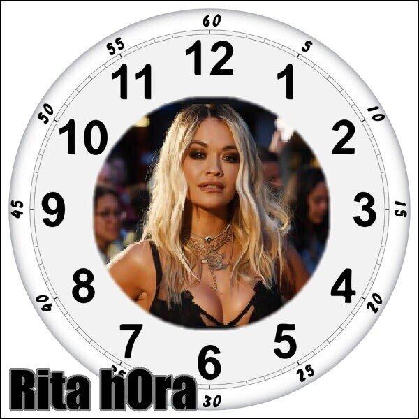 cantante,hora,reloj,rita ora,tontería