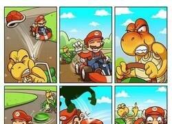 Enlace a ¿Por qué nunca habían accidentes en Mario Kart?