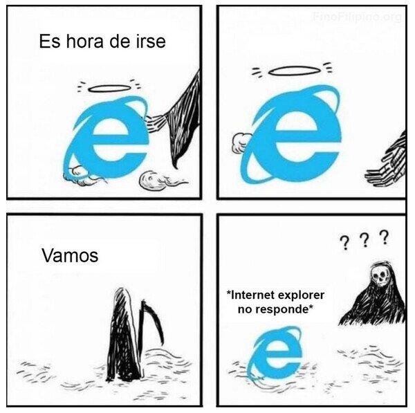 Meme_otros - Internet Explorer nos deja para siempre