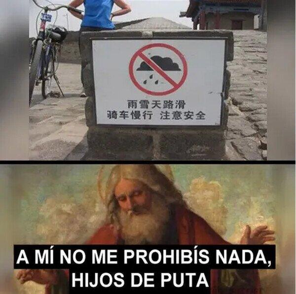 cartel,dios,llover,lluvia,prohibido