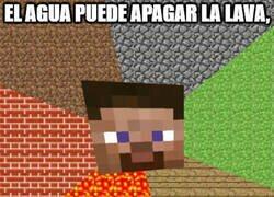Enlace a Lógica del agua ante el magma y la lava en Minecraft