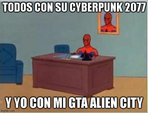 Spiderman60s - Todos con su Cyberpunk 2077