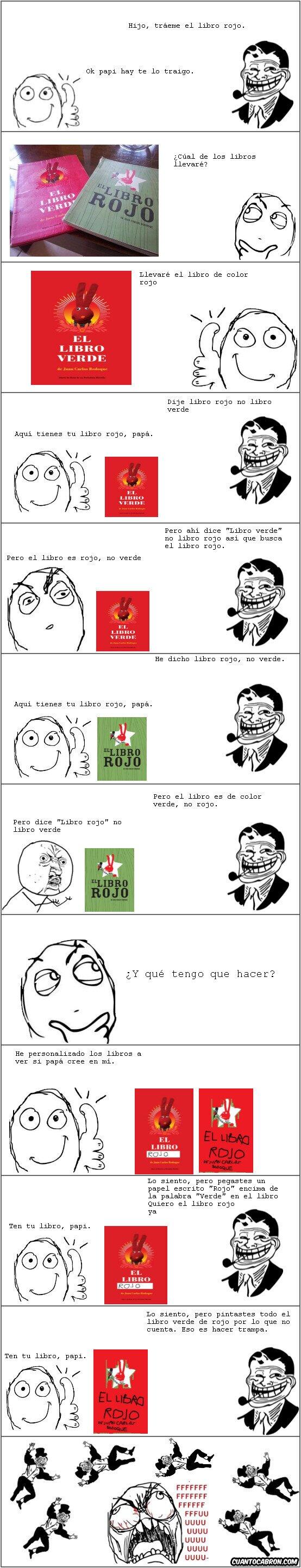 Ffffuuuuuuuuuu - Lo que puede pasar cuando quieres darle el libro rojo a tu papá