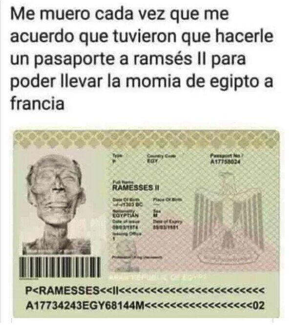 Meme_otros - El pasaporte de Ramsés II