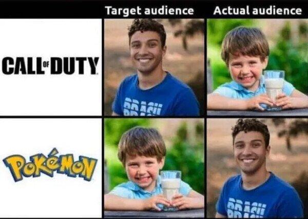 adultos,audiencia,Call of Duty,juegos,niños,Pokémon