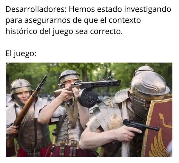 Meme_otros - Esas armas en esa época no sé yo...
