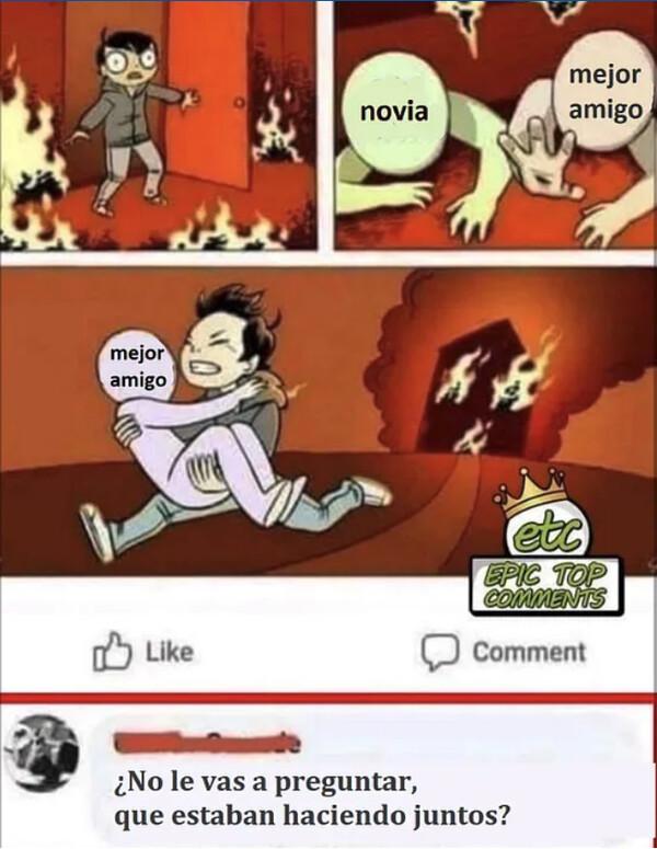 Meme_otros - ¿Qué hacían cuando empezó el incendio?
