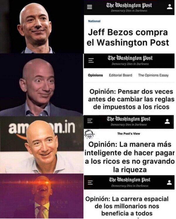 Amazon,cohete,espacio,Jeff Bezos,rico,Washington Post