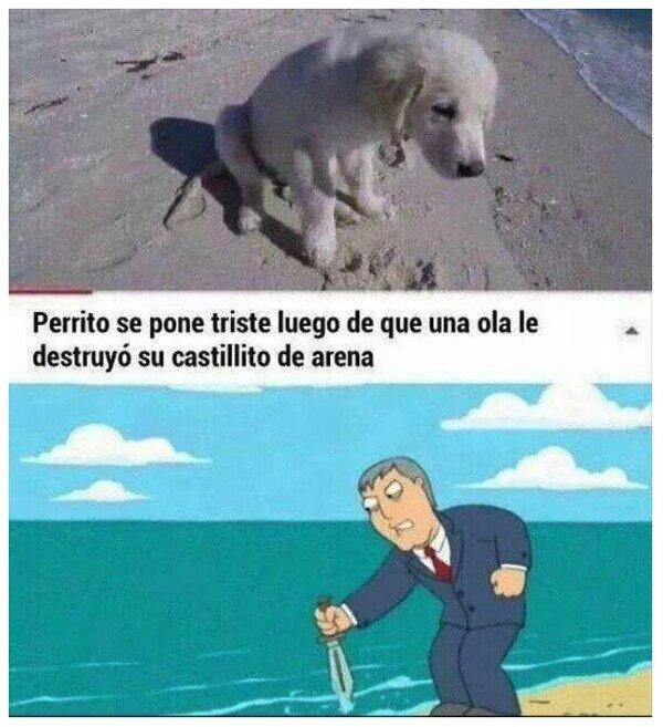 Meme_otros - ¡Maldito mar!