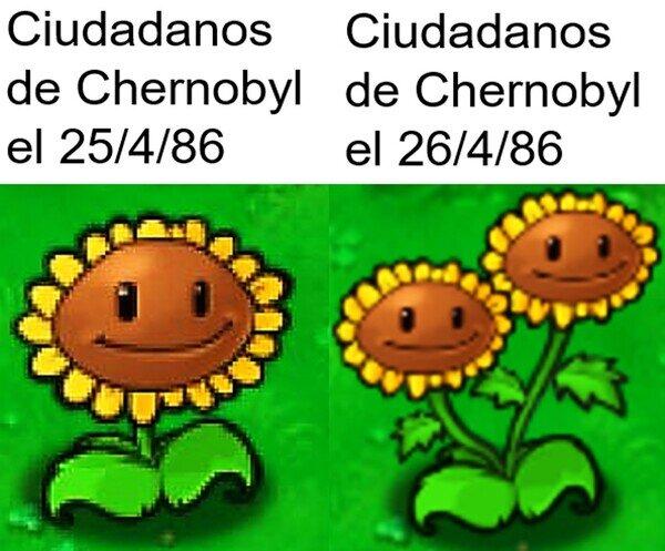 2 cabezas,Chernobyl,Desastre Nuclear,Plants vs Zombies