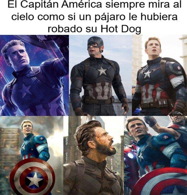 Ave,Capitán Amércia,Chris Evans,Hot Dog,Mirada,Tristeza