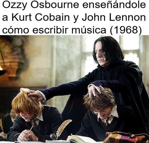 Harry Potter,John Lennon,Kurt Cobain,Ozzy Osbourne,Ron Weasly,Severus Snape