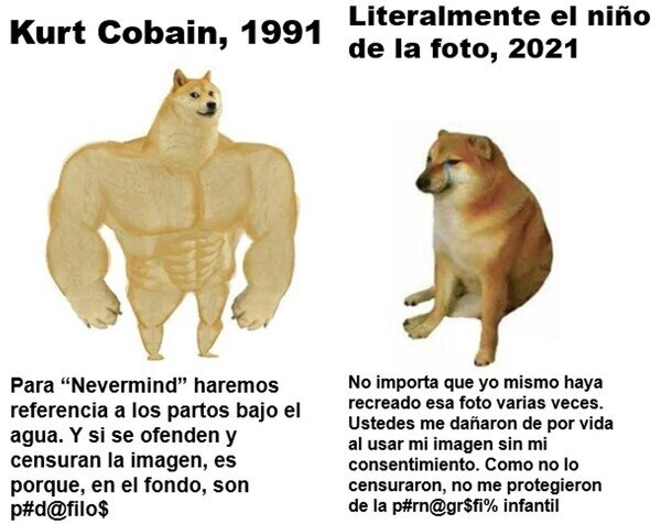 Demanda,Kurt Cobaín,Nevermind,Nirvana