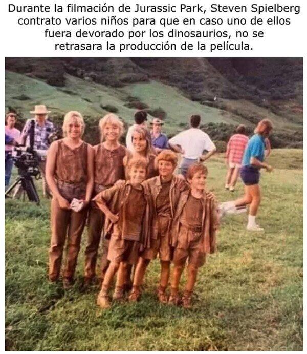 comer,dinosaurios,director,Jurassic Park,niños,película,rodaje,Spielberg