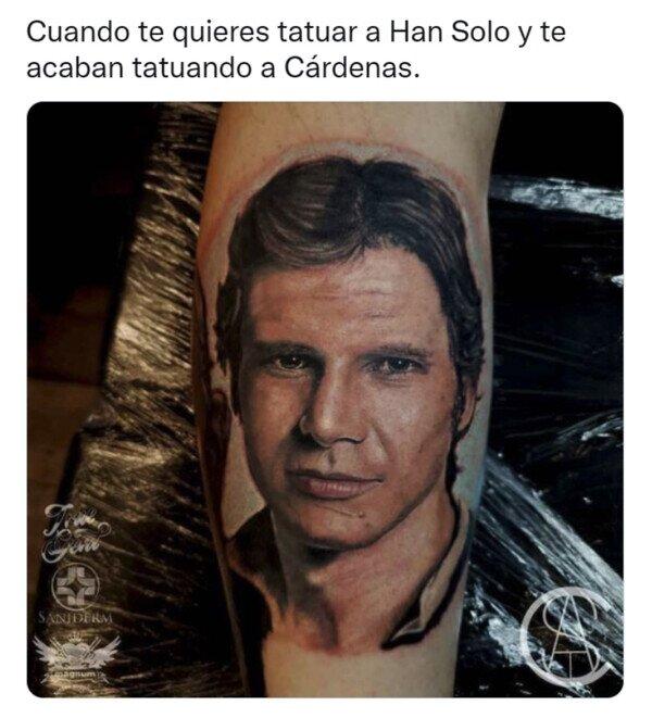Han Solo,Javier Cárdenas,parecido,tatuaje