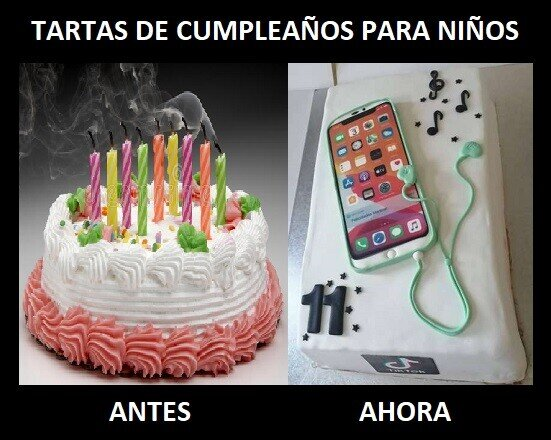ahora,antes,cumpleaños,diferencias,infantil,tartas