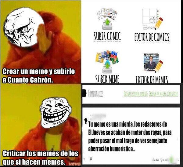 Meme_otros - Hay varios tipos de usuarios en Cuanto Cabrón, pero estos son los más destacados...