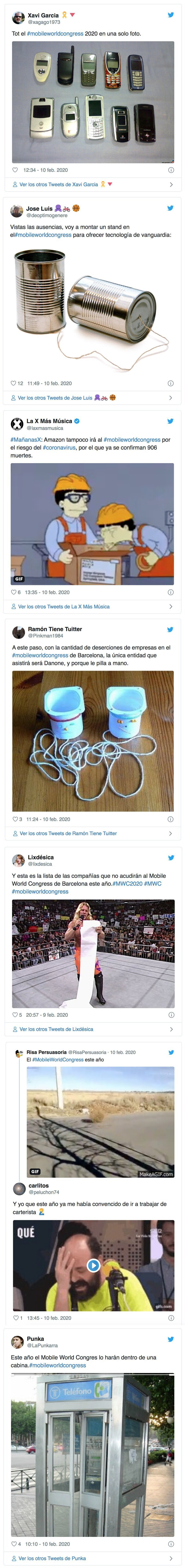 1065 - El Mobile World Congress de Barcelona peligra por el coronavirus, e internet se llena de memes