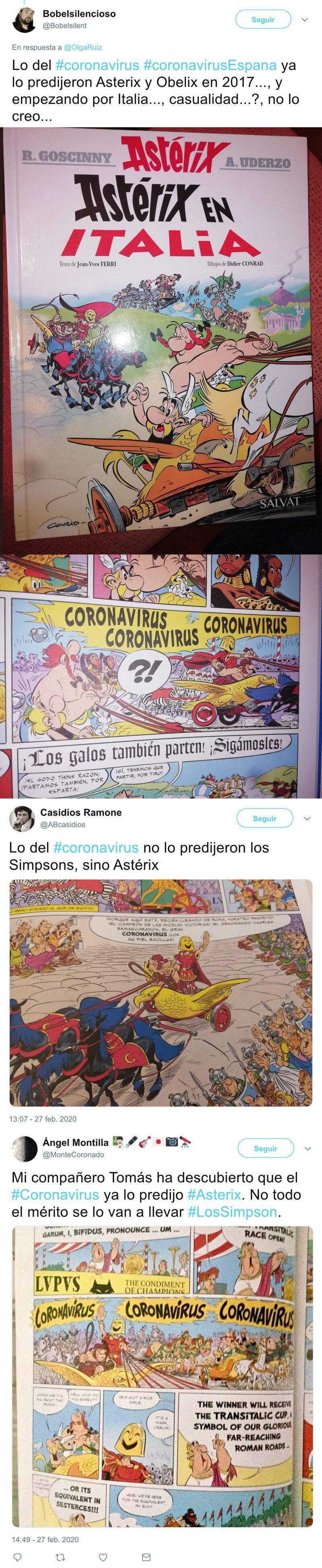 1338 - Me he quedado muy loco al enterarme que en un comic de Asterix en Italia sale un villano llamado CORONAVIRUS, tal cual