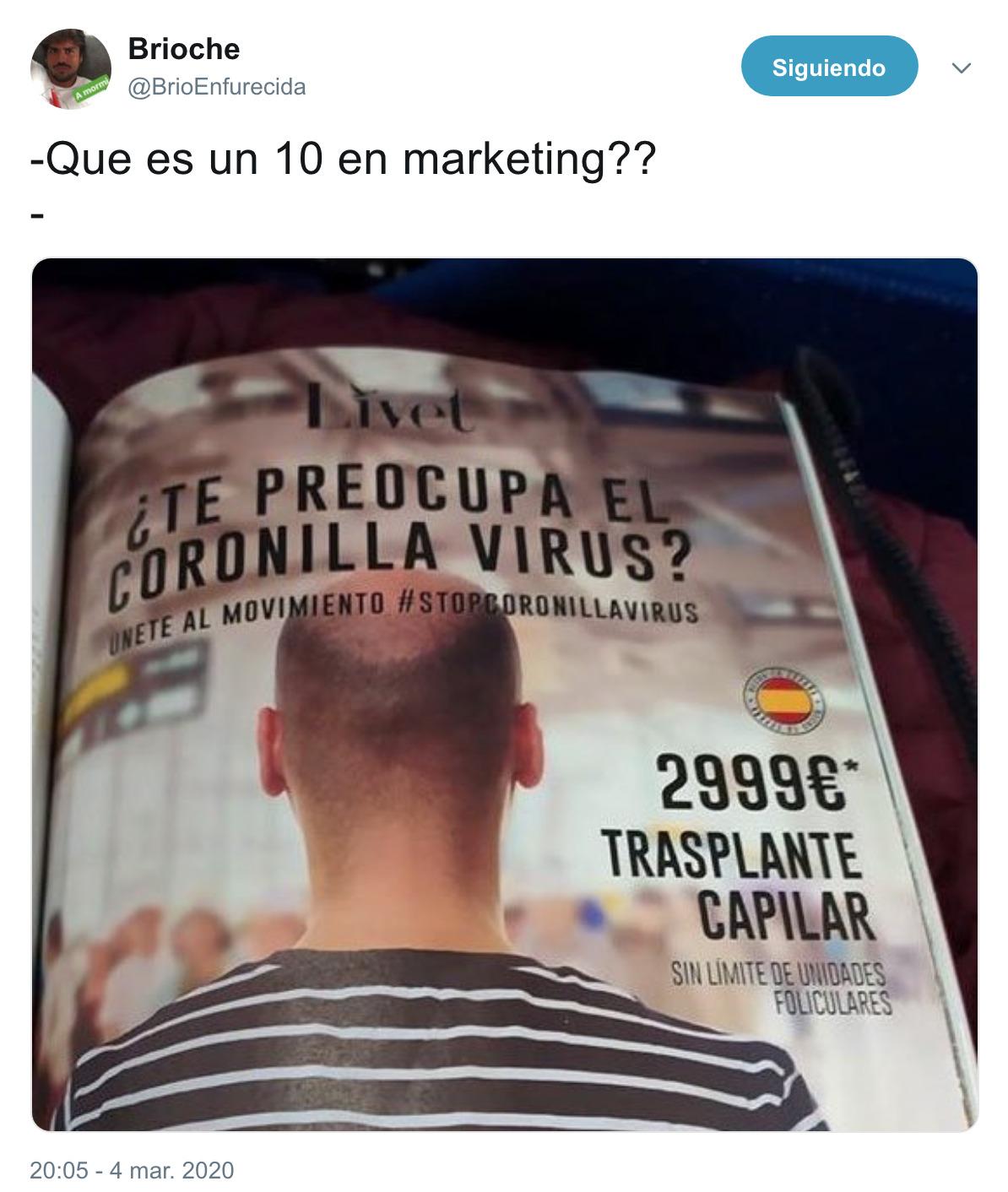 1732 - 10 en marketing, por @BrioEnfurecida