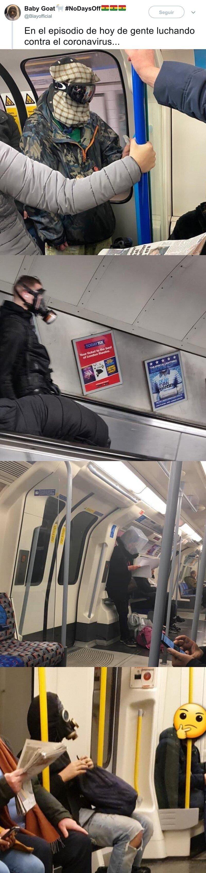 1746 - Para evitar el coronavirus, los engendros que se pueden ver en el metro que parecen villanos de Batman