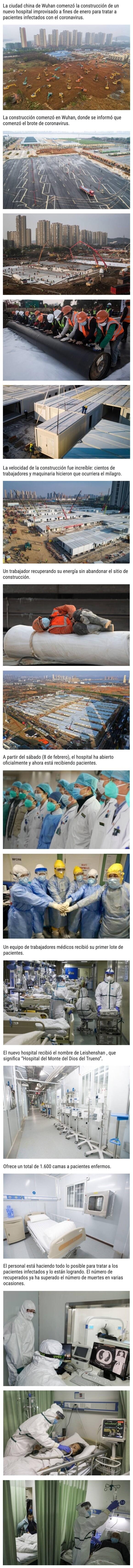 2874 - Fotos que muestran cómo construyeron el nuevo hospital de Wuhan en 10 días para tratar el coronarivus
