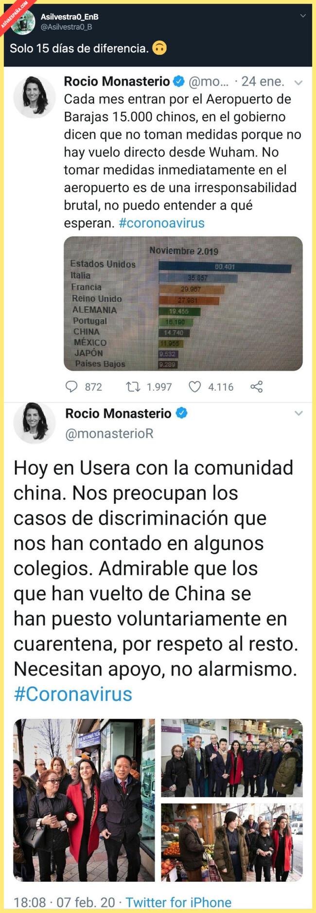 3737 - La tremenda xenofobia mostrada por Rocío Monasterio con los chinos