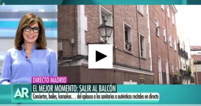 5617 - Lo ocurrido en una calle de Madrid en plena crisis del coronavirus hace llorar a Ana Rosa en pleno directo