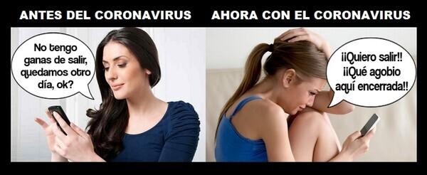 5644 - La gente antes, la gente ahora con el coronavirus...