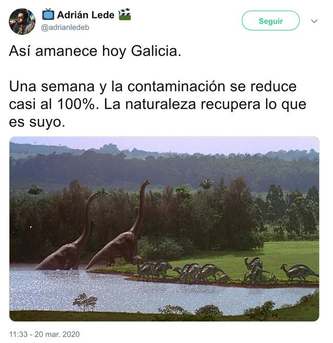 6783 - Una semana y la contaminación se reduce casi al 100%. La naturaleza recupera lo que es suyo. Por @adrianledeb