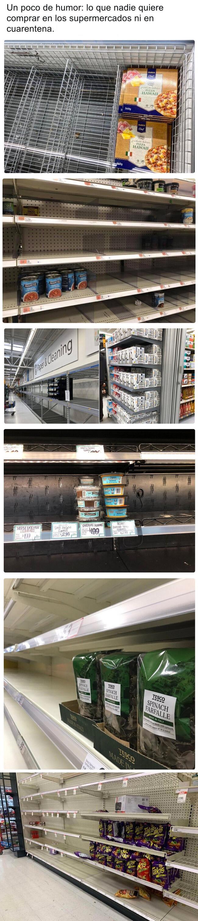 6802 - Los productos de supermercado que nadie quiere ni en cuarentena alrededor del mundo