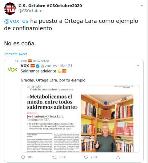 7423 - Ortega Lara y el confinamiento