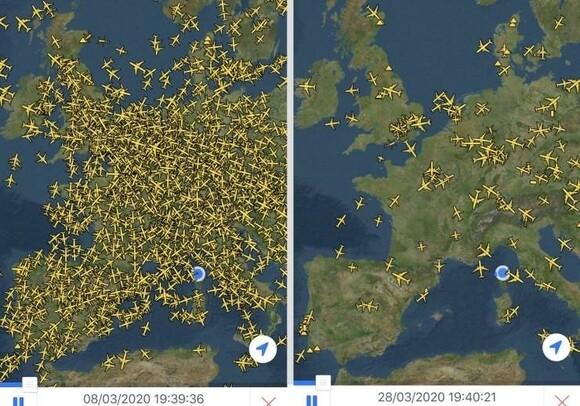10220 - Así se han reducido los vuelos en Europa